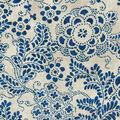 PKL Studio Upholstery Décor Fabric 9\u0022x9\u0022 Swatch-Katazome Garden Baltic