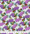 Snuggle Flannel Fabric-Happy Hippo