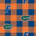 Florida Gators Fleece Fabric-Buffalo Plaid