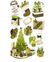 Jolee's Boutique Christmas Stickers-Gifts, , hi-res