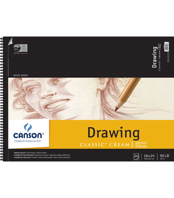 """Canson Classic Cream Drawing Paper Pad 18""""X24"""""""