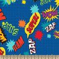 Pow! Snap! Zoom Super Hero Print Fabric