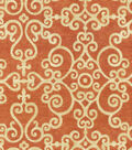 P/K Lifestyles Upholstery 8x8 Fabric Swatch-Tendril/Chili