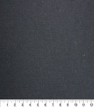 Solid Refined Ponte Knit Fabric -Black