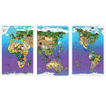 Dowling Magnets Wildlife Map Puzzle Bundle