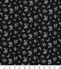 Quilter\u0027s Showcase Fabric 44\u0027\u0027-Ditsy Floral on Black