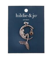 hildie & jo Zinc Alloy, Iron & Glass Moon with Beauty Pendant, , hi-res