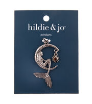 hildie & jo Zinc Alloy, Iron & Glass Moon with Beauty Pendant, , hi-res