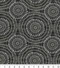 Kelly Ripa Home Upholstery Fabric 54\u0027\u0027-Raven Spiral Graph