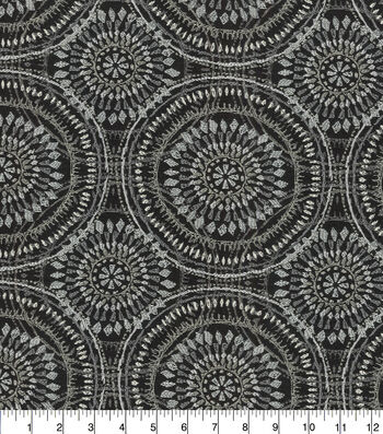Kelly Ripa Home Upholstery Fabric 54''-Raven Spiral Graph
