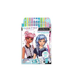 Make It Real Pastel Pop Fashion Design Sketchbook Kit