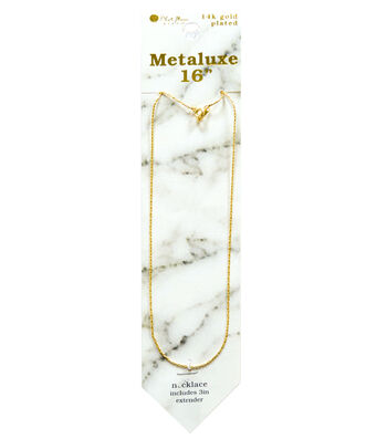 """Metaluxe Snake Necklace 16""""-Gold"""