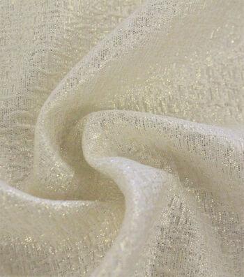 "Metallic Textured Jacquard Fabric 53""-Gold & White"