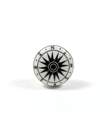 Dritz Home Ceramic Compass Knob