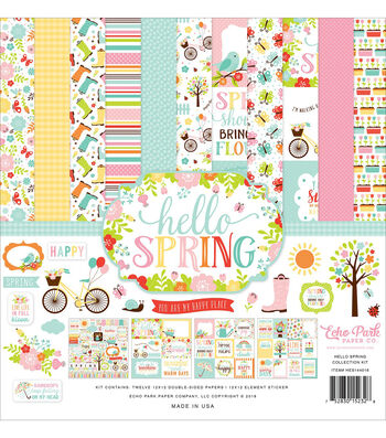 Echo Park Paper Company Hello Spring Collection 12''x12'' Kit