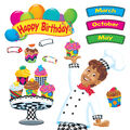 Happy Birthday Bake Shop Bulletin Board Set, 2 Sets
