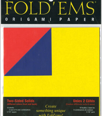 """Fold 'Ems Origami Two-Sided Solid Paper 5.875"""" 18/Pkg-"""