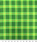St. Patrick\u0027s Day Cotton Fabric-Large Plaid