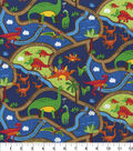 Novelty Cotton Fabric-Dinosaur Roads