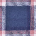 Flannel Shirting Fabric-Teal Navy Ivory Pink