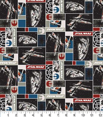 "Star Wars Cotton Fabric 44""-Rebel Ships"