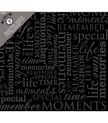 "Colorbok Post Bound Album 12""X12""-Memories -Black"