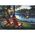 Paint By Number Kit 20\u0022X14\u0022-Adirondack Evening