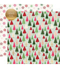 Merry & Bright Foiled Double-Sided Cardstock 12X12-Winter Wonderland