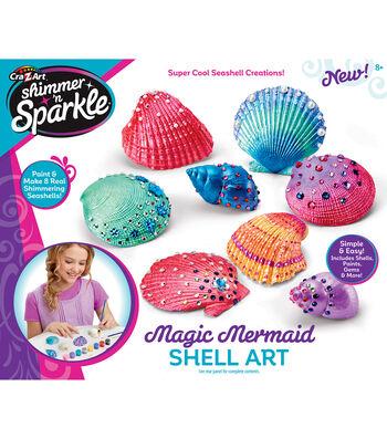 CraZart Shimmer N Sparkle Mermaid Shell Art