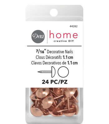 "Dritz Decorative Nails 7/16"" Rose Gold"