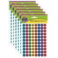Teacher Created Resources Chalkboard Brights Mini Stickers Valu-Pak 6pk