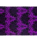 Cascade Textured Toile Satin Ribbon 4\u0022x15 yds-Flocked Pattern on Purple