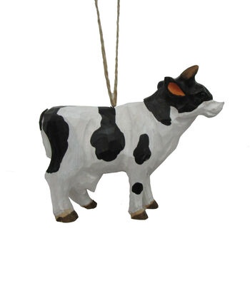 Maker's Holiday Christmas Wood Cow Ornament