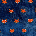 Luxe Flannel Fabric-Foxes on Denim
