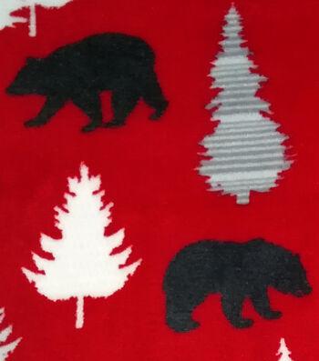 Sew Lush Fabric -Black Bears on Red