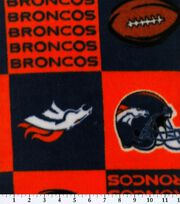 Denver Broncos Fleece Fabric -Block, , hi-res