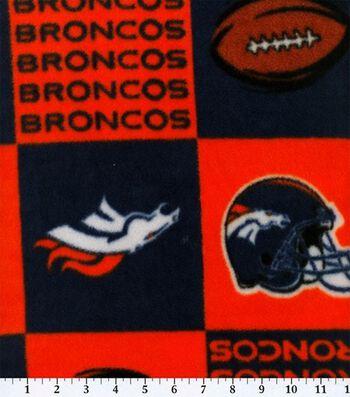 "Denver Broncos Fleece Fabric 58""-Block"