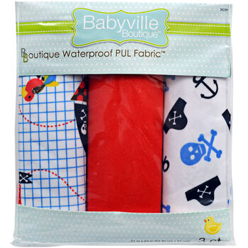 "Babyville Boutique 21"" x 24"" Fabric Pirate And Skull"