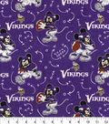 Minnesota Vikings Cotton Fabric-Mickey