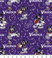 Minnesota Vikings Cotton Fabric-Mickey Mouses, , hi-res