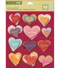 Studio 112 Heart Dimensional Stickers