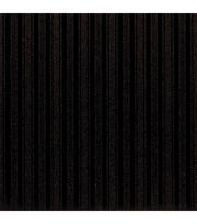 "American Crafts Patterned Glitter Cardstock 12""X12""-Stripe 1/Black, , hi-res"