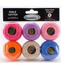 Sensations 6 pk 0.35 oz. Pearl Cotton Fashion Thread Value Pack