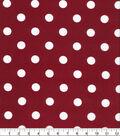 Keepsake Calico Cotton Fabric Large Dots on Burgundy