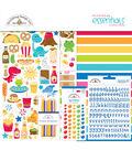 Doodlebug Essentials Page Kit 12\u0022X12\u0022-So Much Pun