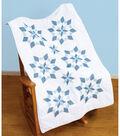 Stamped White Lap Quilt Top 40\u0022X60\u0022-XX Star