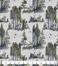 Snuggle Flannel Fabric-Scenic Stags With Green