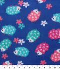 Blizzard Fleece Fabric -Hedgehogs And Flowers