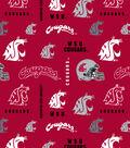 Washington State University Cougars Cotton Fabric 43\u0022-Logo