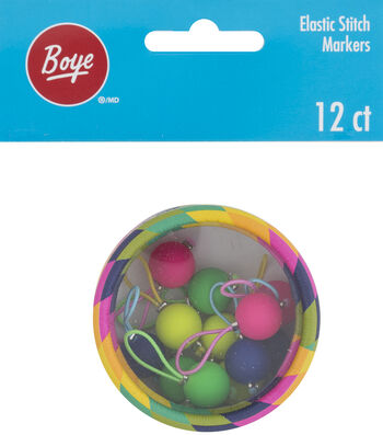 Boye 12 Pack Elastic Stich Markers